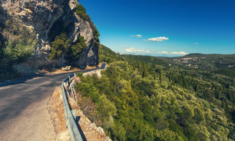 corfu road mountain